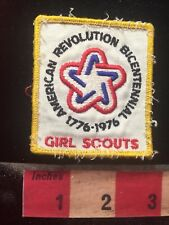 Vintage AMERICAN REVOLUTION BICENTENNIAL GIRL SCOUTS Patch 81WE