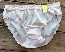 Vintage- Nylon Bikini Brief Beige Great Detailed Sz 5-Sm Nos Without Tags