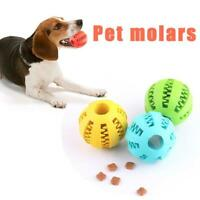 Dog Treat Ball Interactive Chew Resist Toys Teeth Cleaning Toy Molar Y9B9