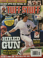 Tuff Stuff Magazine June 2006 NY Yankees Johnny Damon + Cards - NoML EX