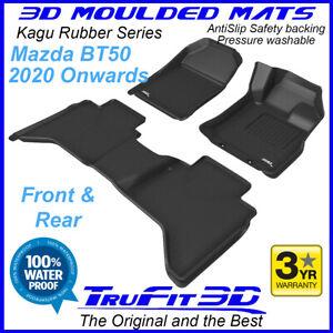 For Mazda BT50 Dual Cab 2020 to 2023 - 3D Black Rubber Car Floor Mats