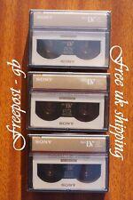 3 X SONY Pro Qualité Haute Définition Mini Dv Caméscope Numérique Cassettes /
