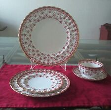 Spode Fluer De Lys Red Y7481, 5 piece service for 8 in excellent condition.