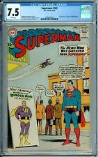 "SUPERMAN 163 CGC 7.5 WP 1ST & ""DEATH"" WONDER-MAN NEW CASE DC SILVER AGE - 1963"