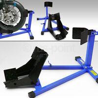 Bituxx Motorradwippe Motorradständer Motorrad Montageständer Vorderrrad Blau