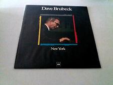 "DAVE BRUBECK ""NEW YORK"" LP VINYL 12"" MBE/VG EX/EX"