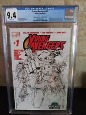 Young Avengers #1 cgc Wizard World LA Sketch Variant  CGC 1st Kate Bishop