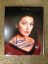 Marina Sirtis Autographed 8x10 Photo Star Trek Deanna Troi The Next Generation