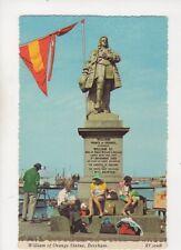 Brixham William Of Orange Statue Devon 1960s Postcard 380b