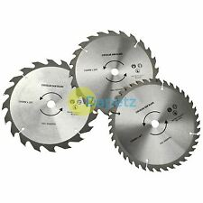 3PC 190mm TCT 30mm Bore Circular Saw Blades 20, 24 & 40 Teeth Hardwood, Softwood