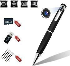 Hidden Cameras Pen Recorder 1080P Built-in 32GB Spy Cover Lens Pen Cam Record