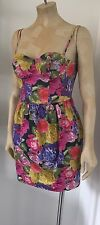 TOPSHOP FLORAL DRESS - SIZE 8 - USED
