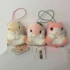 AMUSE Coroham Coron Cutie x1 (8cm) Green Cream Hamster Plush Japan NWT