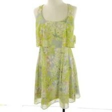 Jessica Simpson Dress Size 8 Green Gray Floral Sleeveless A Line New $98