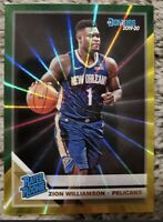 2019-20 donruss zion williamson rated rookie yellow/green laser SP💎 Psa Ready