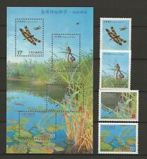 Taiwan 2003 Insects Insekten Insectes Insectos Dragonflies compl. set + MS MNH
