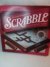 Scrabble Deluxe Turntable Crossword Game -  COMPLETE - 2001