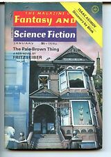 Fantasy and Science Fiction Vol 52 No 1 1977 Approx grading : VF