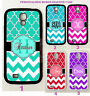 TEAL RED PINK TRELLIS CHEVRON MONOGRAM Case For Samsung Galaxy S9 S8 S7 NOTE 9 8