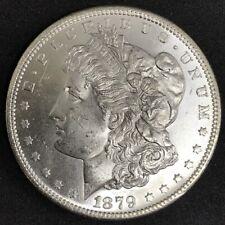 1879 S Morgan Silver $1 One Dollar BU UNC Uncirculated Blast White Coin DJR COA