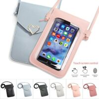 Heart Shaped Girl Shoulder Bag Purse Handbag Touch Screen Phone Crossbody Pouch