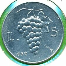 1950 REPUBBLICA ITALIANA 5 LIRE ROMA COMUNE BB+