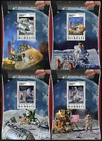 DJIBOUTI 2017 THE APOLLO MISSIONS  SET OF FOUR SOUVENIR SHEETS MINT NEVER HINGED