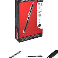 Uni Ball 207 Retractable Gel Pens Medium Point Blue Box Of 12