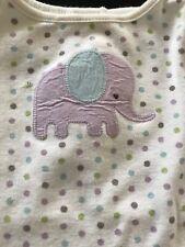 Gymboree Cotton Elephant Polka Dot Bodyshirt- Newborn-7 Lbs