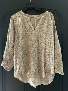 Trenery Country Road Animal Print Top Size L Like New