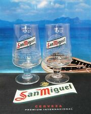 San Miguel Half Pint 10oz Glasses x 2 Brand New 100% Genuine Official