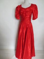 Kleemeier patio vestido Maxi vestido de baile vestido de novia 36 38 satén rojo como nuevo/gh