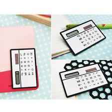 1x Calculatrice Carte Solaire Calculer Poche Portable Bureau Ecole Enfant Cadeau