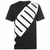 Puma Big Logo T Shirt Mens Gents Crew Neck Tee Top Short Sleeve Cotton Stamp