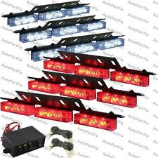 54 LED RED WHITE Emergency Warning Strobe Hazard Lights Bars Deck Dash Grill