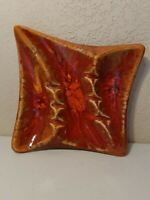 Ashtray Cigar, Cigarette McCoy Pottery Mid Century Decors Orange Gold 970 USA