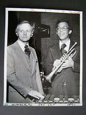 Glossy Press Photo undated Robert McIntosh & Bo Winiker Boston MA Jazz Band