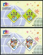 Korea 2085a-2086a S/S 2v, MNH. Philakorea World Stamp Exhibition, Seoul, 2002