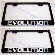 2X EVOLUTION Mitsubishi LANCER Stainless Steel License Plate Frame W/ cap