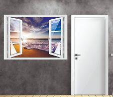Wandtattoo Fenster 3D Optik Wandsticker Aufkleber Deko Bild - California Sun