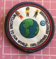 Welcome To Our World Badge Patch Girlguiding Guides Brownies Sew On Camp Blanket
