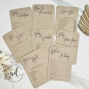 12 Pack Baby Shower Games Advice Prediction Game Cards L Wishes Kraft