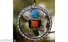 FAMOUS DOUBLE BLACK DIODE STERLING SILVER QUANTUM CRYSTAL RADIO AMULET NEW