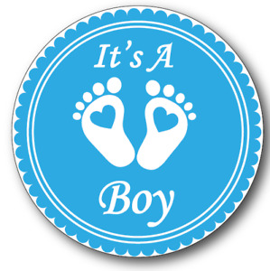 It's A Boy Baby Reveal Sticker for Party Favour Gift Bags, cones or envelopes