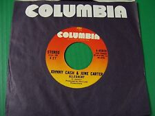 Country  Johnny Cash & June Carter,  Rare 45  ALLEGHENY 1973 M-  COLUMBIA