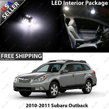 Subaru Outback Wagon 4 Door White LED SMD Interior Light Bulb Package Set
