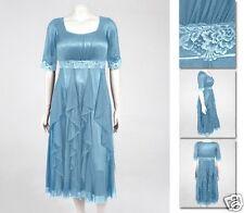 NEW!  Zaftique GALA DRESS Grey Blue (Last One Left!) 1Z / 16 18 / XL 1X