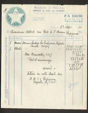 """TOULOUSE (31) USINE de CHAUSSURES de LUXE POLLUX pour HOMMES """"P.A. JOLFRE"""" 1950"""