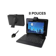 Housse clavier universel tablette tactile saisie ardoise numérique 8' noire