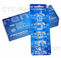 Renata button cell batteries LR44 SR927SW all sizes FREE POST world-wide